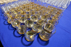 Many glasses of whiskey Stock Images