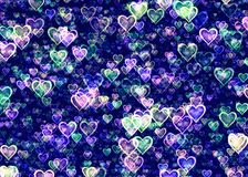 Many glow hearts backgrounds. Many glow hearts background texture Stock Photography