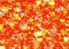 Many glow hearts backgrounds. Many glow hearts background texture Royalty Free Stock Images