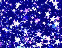 Many glow shining stars background. S. Holiday symbol Stock Images