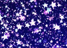 Many glow shining stars background. S. Holiday symbol Stock Photos