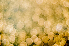 Many glowing unscarbe round lights. Many glowing unscarbe yellow round lights stock photography