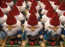 Many gnome figures. Many gnome figures, christmas background royalty free stock image