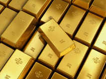 Many Gold bars Stock Images