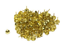Many gold buttons Royalty Free Stock Photos