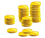 Many gold coins Royalty Free Stock Images