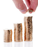 Many gold coins Royalty Free Stock Photography