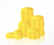 Many gold coins Royalty Free Stock Image