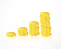 Many gold coins Stock Photo