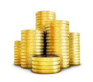 Many gold coints Stock Photography