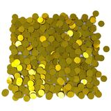 Many gold dollar coins. 3D rendering Stock Illustration