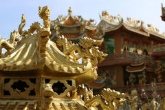 Many gold dragon Royalty Free Stock Photography