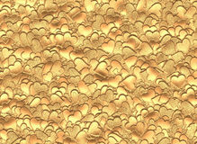 Many gold hearts background of Valentine's day Royalty Free Stock Photography
