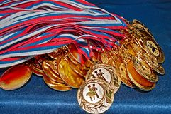 Many gold medals Royalty Free Stock Photos