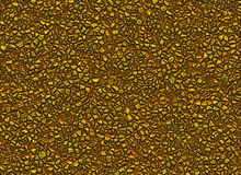 Many gold stones relief texture shining backgrounds Royalty Free Stock Image