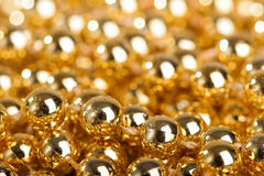 Many golden balls Royalty Free Stock Photography