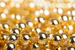 Many golden balls Stock Photography