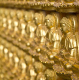 Many golden buddha statue Stock Photos