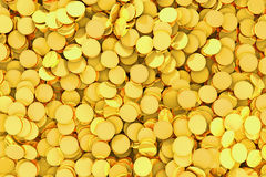 Many golden coins background. Many golden coins background - Finance concept background Stock Image
