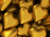 Many golden hearts Royalty Free Stock Images