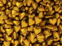 Many golden hearts Royalty Free Stock Photography