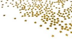 Many golden stars. Isolated on white background royalty free stock photography