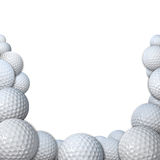 Many Golfballs as Golf Sports Border copy space