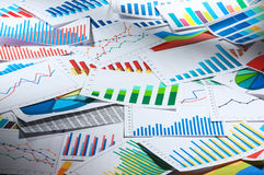 Many graphs. (horizontal) Royalty Free Stock Image