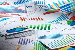 Many graphs. (horizontal) Royalty Free Stock Image