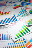 Many graphs. (vertical) Stock Image