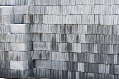 Many gray brick/concrete block texture background. Stock Photography