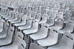 Many gray chairs Stock Photography