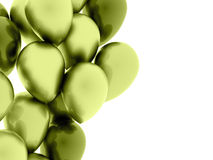 Many green balloons rendered on white. Background Royalty Free Stock Images