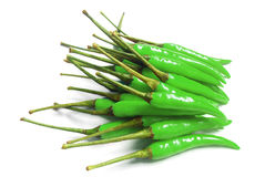 Many green chili for cooks , it's spicy Stock Images