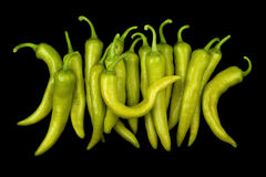 Many green peppers Royalty Free Stock Photos