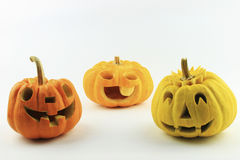 Many  halloween pumpkins Stock Photos