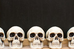 Many Halloween skulls Royalty Free Stock Photos