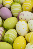 Many colourful easter eggs Stock Photos