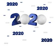 Many Handball ball 2020 Designs. With a White Background royalty free illustration