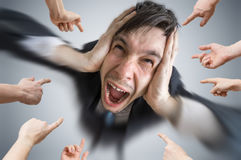 Free Many Hands Are Pointing And Blame Man Who Made Mistake Royalty Free Stock Photo - 91624565