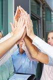 Many hands clapping high five Royalty Free Stock Photography