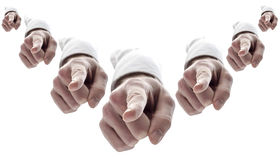 Many Hands Pointing Finger At You Royalty Free Stock Photo