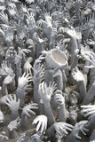 Many hands reaching up to grab Royalty Free Stock Photo