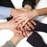 Many hands together Royalty Free Stock Image