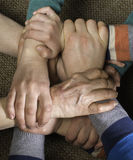 Many hands together Royalty Free Stock Photo