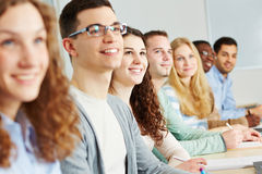 Many students learning Stock Images