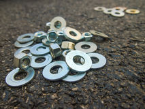 Many Hardware Are on the Ground at the Construction Site Royalty Free Stock Photography