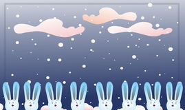 Many hare's Royalty Free Stock Images