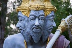 Many-headed mythical statue, Island Koh Samui in Thailand. Many-headed mythical statue, Island Koh Samui, Thailand. Close up stock photo