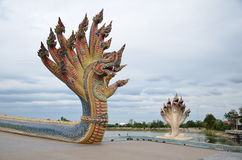 Many headed serpent statue Stock Photography